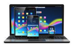 Modern mobile devices Stock Illustration