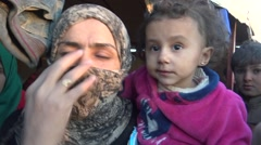 Iraq - October 2016: Refugees near Mosul Stock Footage