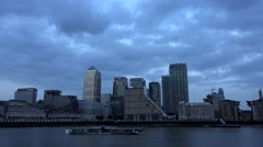 4K London Canary Wharf Timelapse, Office Financial Center, Business Buildings Arkistovideo