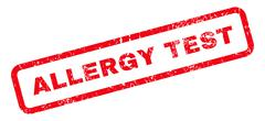 Allergy Test Text Rubber Stamp Stock Illustration