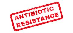 Antibiotic Resistance Text Rubber Stamp Stock Illustration