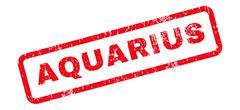Aquarius Text Rubber Stamp Stock Illustration