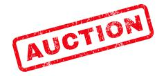 Auction Text Rubber Stamp Stock Illustration