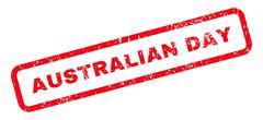 Australian Day Text Rubber Stamp Stock Illustration