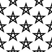 Pentagram button seamless pattern Piirros