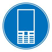 Phone allowing sign Stock Illustration