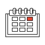 Calendar reminder isolated icon Stock Illustration