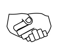Hand shake isolated icon Piirros