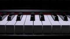 Animated Play piano keys Stock Footage