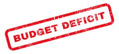Budget Deficit Text Rubber Stamp Piirros
