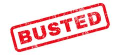 Busted Text Rubber Stamp Stock Illustration