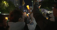 Protest in Seoul, South Korea Stock Footage