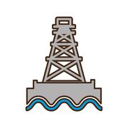 Tower oil exploration industry Stock Illustration