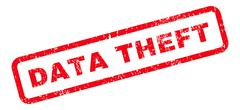 Data Theft Text Rubber Stamp Stock Illustration