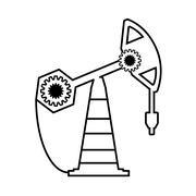 Tower oil exploration industry Stock Illustration