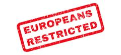 Europeans Restricted Text Rubber Stamp Stock Illustration