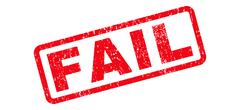 Fail Text Rubber Stamp Stock Illustration