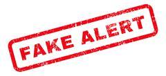 Fake Alert Text Rubber Stamp Stock Illustration