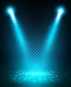 Spot light beams projection on floor Stock Illustration