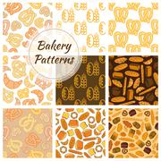 Bakery bread and grain seamless pattern Stock Illustration