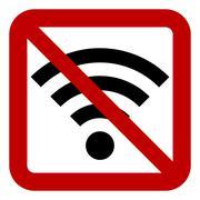 No Wi-Fi sign Stock Illustration
