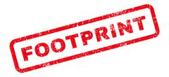 Footprint Text Rubber Stamp Stock Illustration