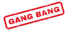 Gang Bang Text Rubber Stamp Piirros