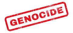 Genocide Text Rubber Stamp Stock Illustration