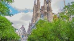 Roman catholic church, Barcelona, Catalonia Stock Footage