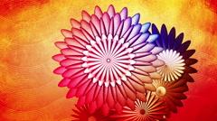LOOP - Celebration background Flower Orange Gold_Center Stock Footage