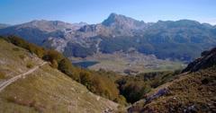 Aerial, Idyllic Mountainous Panorama With A Lake, Montenegro Stock Footage
