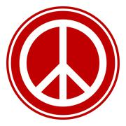 Peace symbol buttom Stock Illustration