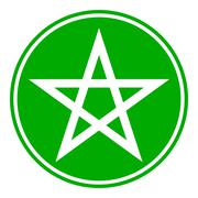 Pentagram button Piirros