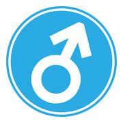 Gender male symbol button Stock Illustration