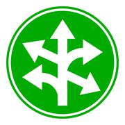 Straight, left and right arrow button Stock Illustration