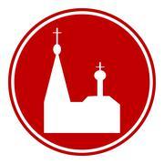 Orthodox church button Piirros