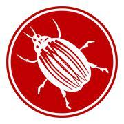 Bug button Stock Illustration