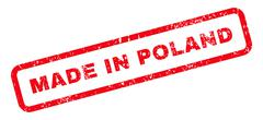 Made In Poland Text Rubber Stamp Stock Illustration