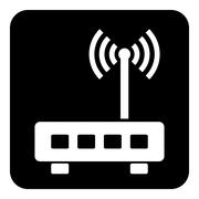 Router symbol button Stock Illustration