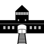 Concentration Camp Auschwitz icon Stock Illustration