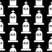 Grave icon seamless pattern Stock Illustration