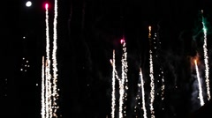 Beautiful colourful fireworks close up Stock Footage