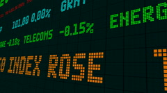 Stock market ticker stock market ticker the benchmark euro Stock Footage