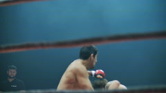 Belgorod, Russia: Athletes in the ring mixed martial arts Stock Footage