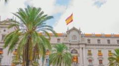 Spain flag 4k Stock Footage