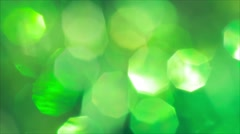Green blurred lights. Abstract Christmas background Stock Footage