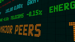 Stock market ticker stock market ticker the european currency slid Stock Footage