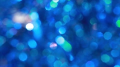 Blue  blurred lights. Abstract Christmas background Stock Footage