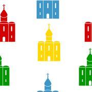Orthodox church seamless pattern. Stock Illustration