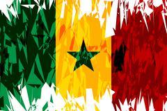 Flag of Senegal. Stock Illustration